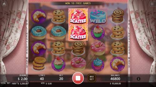 Bakery Sweetness Review Slots Scatter win triggers the free spins feature