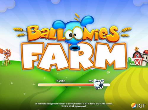 Balloonies Farm Review Slots Splash screen - game loading