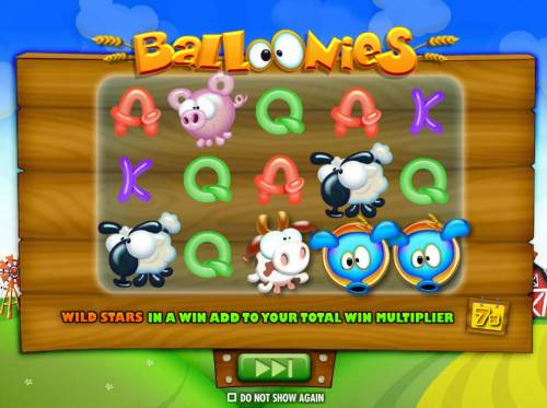 Balloonies Farm Review Slots Wild Stars in a win add to your total win multiplier up to 7x.