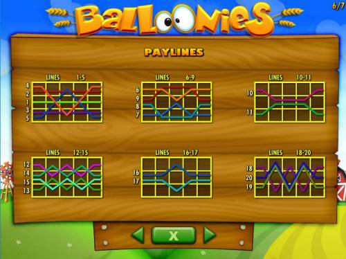 Balloonies Farm Review Slots Payline Diagrams 1-20