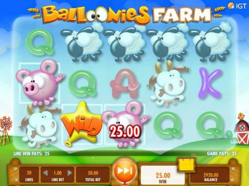 Balloonies Farm Review Slots A winning three of a Kind.