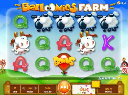 Balloonies Farm Review Slots Winning symbols are removed from the reels and new symbols drop in place. The win multiplier is increased with each consecutive win.