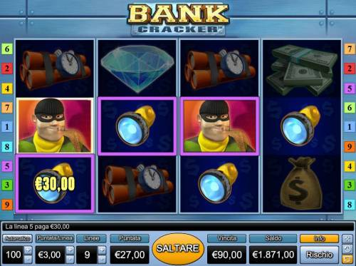 Bank Cracker Review Slots Multiple winning paylines triggers a 90.00 jackpot