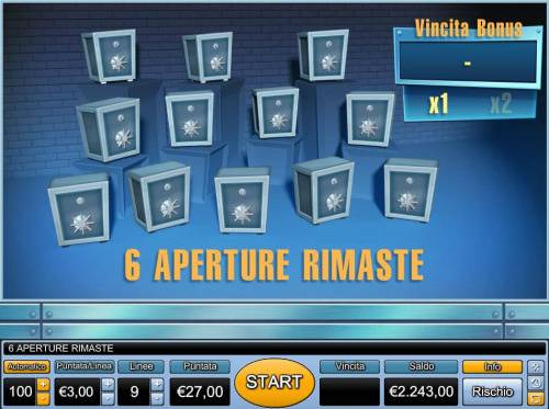 Bank Cracker Review Slots select 6 safes to reveal a prize.