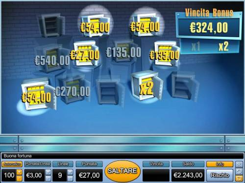 Bank Cracker Review Slots With the selection made a 324.00 prize award with a 2x multiplier