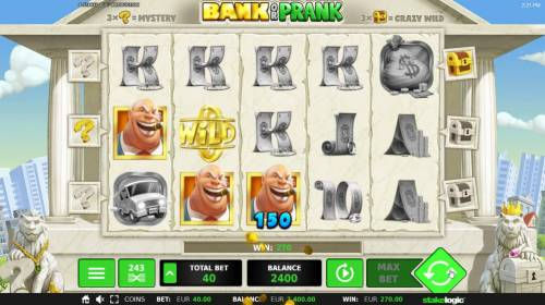 Bank or Prank Review Slots Multiple winning combinations triggers a 270.00 big win!
