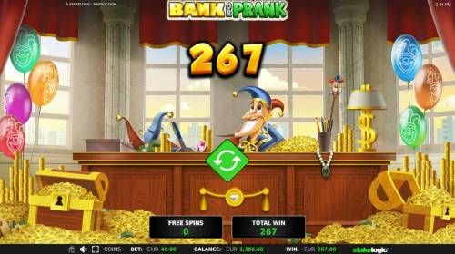 Bank or Prank Review Slots Total Free Spins Payout 267.00