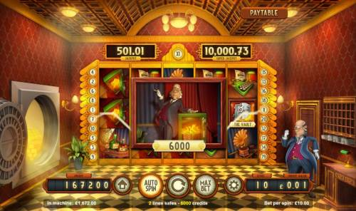 Bank Walt Review Slots A pair of win lines leads to an 6000 coin jackpot.