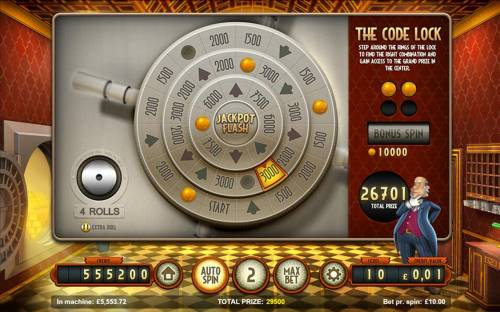 Bank Walt Review Slots The Code Lock - Step around the rings of the lock to find the right combination and gain access to the grand prize in the center.