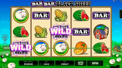 Bar Bar Black Sheep 5 Reels Review Slots Multiple winning paylines triggers a big win!