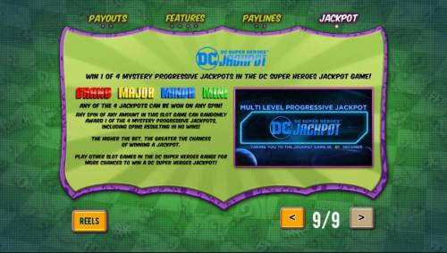 Batman and The Riddler Riches Review Slots DC Super Heroes Jackpot Game Rules - Win 1 of 4 Mystery Progressive Jackpots in the DC Super Heroes Jackpot.