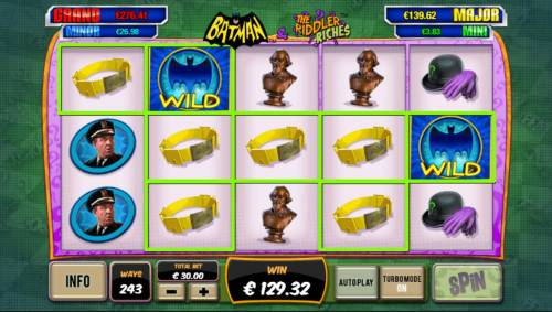 Batman and The Riddler Riches Review Slots Multiple winning combinations.