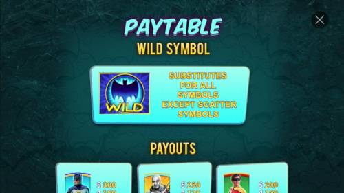 Batman & Mr. Freeze Fortune Review Slots Bat Wild substitutes for all symbols except scatter symbols.
