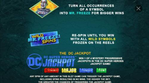 Batman & Mr. Freeze Fortune Review Slots Polar Prize Vault games continued.