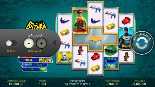 Batman & Mr. Freeze Fortune Review Slots Click on the side menu button to adjust the coin value.
