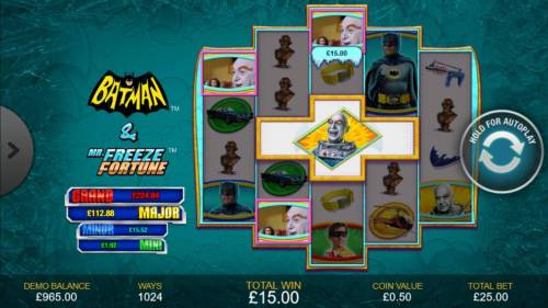 Batman & Mr. Freeze Fortune Review Slots In-reel feature triggers a winning combination.