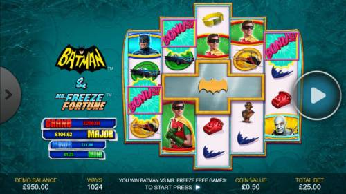 Batman & Mr. Freeze Fortune review on Review Slots