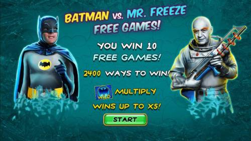Batman & Mr. Freeze Fortune Review Slots Batman vs Mr. Freeze Free Games trigged. 10 free games with 2400 ways to win.