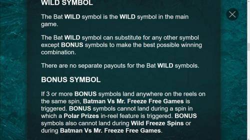 Batman & Mr. Freeze Fortune Review Slots Bat Wild Symbol Game Rules