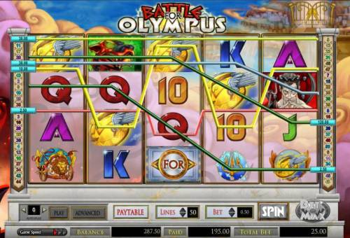 Battle for Olympus Review Slots 195 coin big win