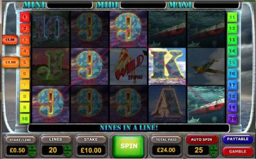 Battle of the Atlantic Review Slots multiple winning paylines