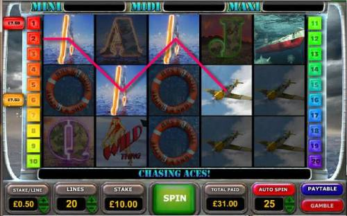 Battle of the Atlantic Review Slots another example of multiple winning paylines triggering a 31.00 jackpot