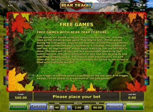 Bear Tracks Review Slots Free Games with Bear Trap Feature Rules