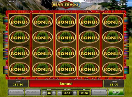 Bear Tracks Review Slots Fill all reel positions to trigger the Free Games Feature.