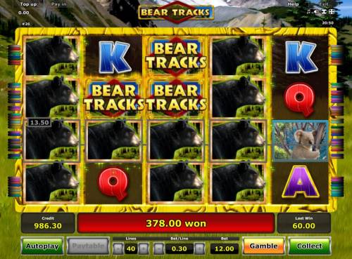 Bear Tracks Review Slots Another winning jackpot triggered during the Free Games feature.