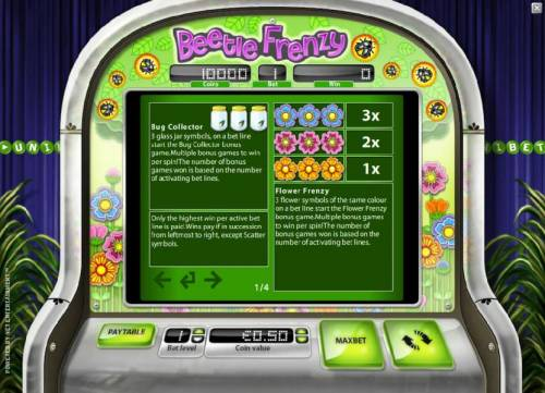 Beetle Frenzy Review Slots bug collector and flower frenzy rules