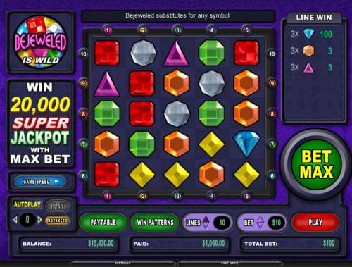 Bejeweled review on Review Slots