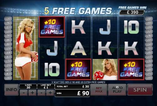 Bench Warmer Football Girls Review Slots free games can be re-triggered during free game bonus feature