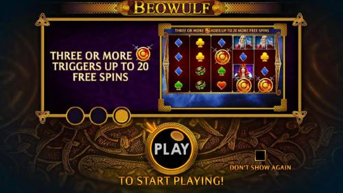 Beowulf Review Slots Three or more scatter symbols triggers up to 20 free spins.