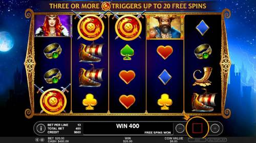 Beowulf Review Slots Three scatter symbols triggers the Free Spins feature.