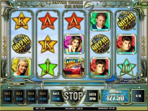 Beverly Hills 90210 Review Slots 3 x scatters triggers free spins
