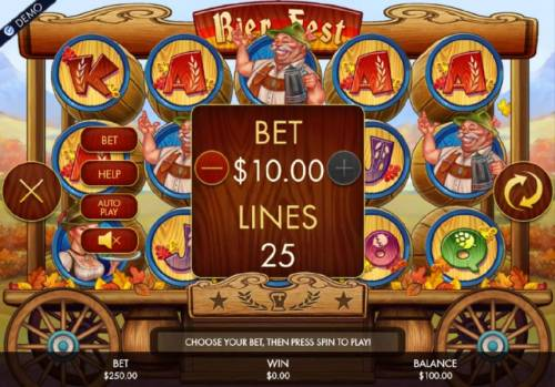 Bier Fest Review Slots Select your bet level from the wide range of betting options. Just click on the plus or minus to adjust the bet to your prefered bet value.