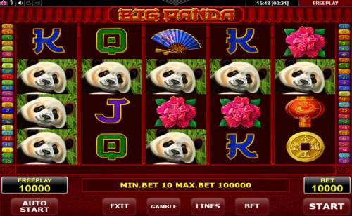 Big Panda Review Slots Main Game Board