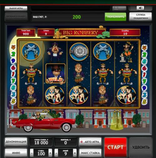 Big Robbery Review Slots A bank hiest themed main game board featuring five reels and 9 paylines with a $900,000 max payout
