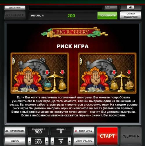 Big Robbery Review Slots Double Up Gamble Feature Rules