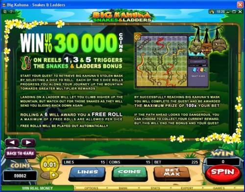 Big Kahuna Snakes & Ladders review on Review Slots