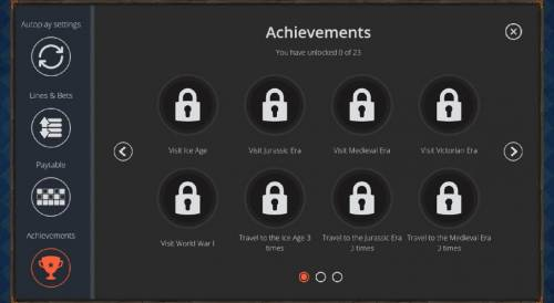 Big Time Journey Review Slots game has 23 different achievement levels that you can unlock the more you play the game.