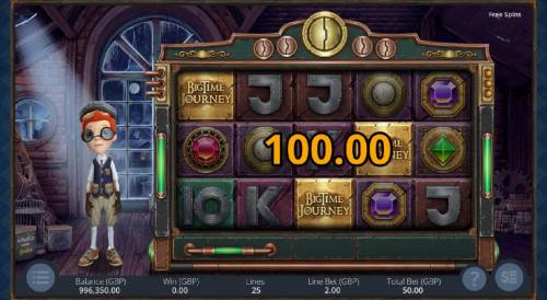 Big Time Journey Review Slots Three scatter symbols triggers the bonus game.