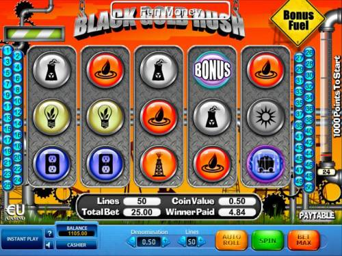 Black Gold Rush Review Slots Collect points with each bonus symbol