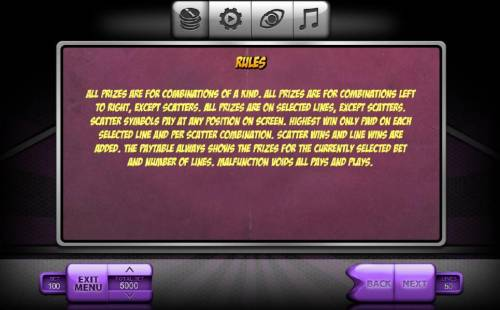 Blast Boom Bang Review Slots Rules - All prizes are for combinations of a kind. All prizes are for combinations left to right, except scatters. All prizes are on selected lines, except scatters. Scatter symbols pay at any position on screen. Highest win only paid on each selected lin