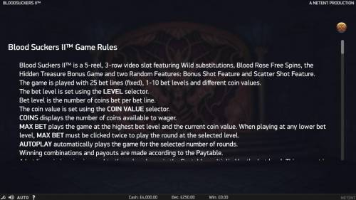 Blood Suckers II Review Slots General Game Rules