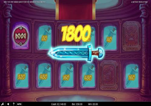 Bob The Epic Viking Quest for the Sword of Tullemutt Review Slots Bonus feature ends when a shiled symbol is revealed. An 1800 coin prize is awarded after making 8 successful picks