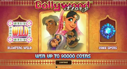 Bollywood Story Review Slots Game features Floating Wilds and Free Spins. Win up to 90000 coins.