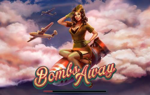 Bombs Away Review Slots Splash screen - game loading - Military Themed Gameboard