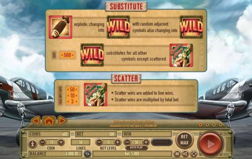 Bombs Away Review Slots Wild and Scatter Symbol Rules