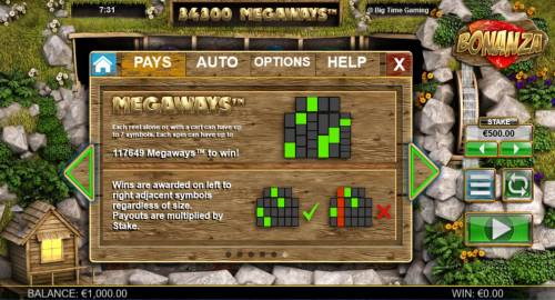 Bonanza Megaways Review Slots Megaways - Each symbol alone or with a cart can have up to 7 symbols. Each spin can have up to 117649 megaways to win.